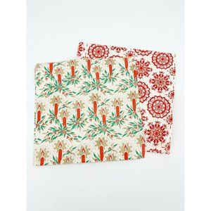 Vintage Christmas Wrapping Paper Gift Wrap Nordic
